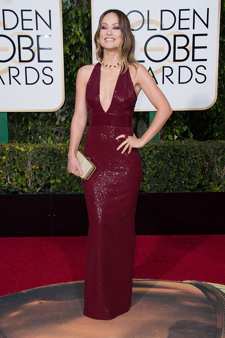 Olivia Wilde wearing Michael Kors at the 2016 Golden Globe Awards