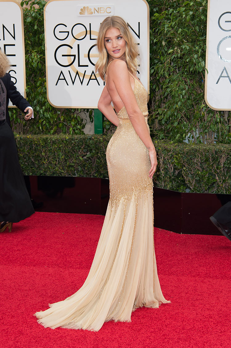 Rosie Huntington Whiteley wearing Atelier Versace at the 2016 Golden Globe Awards