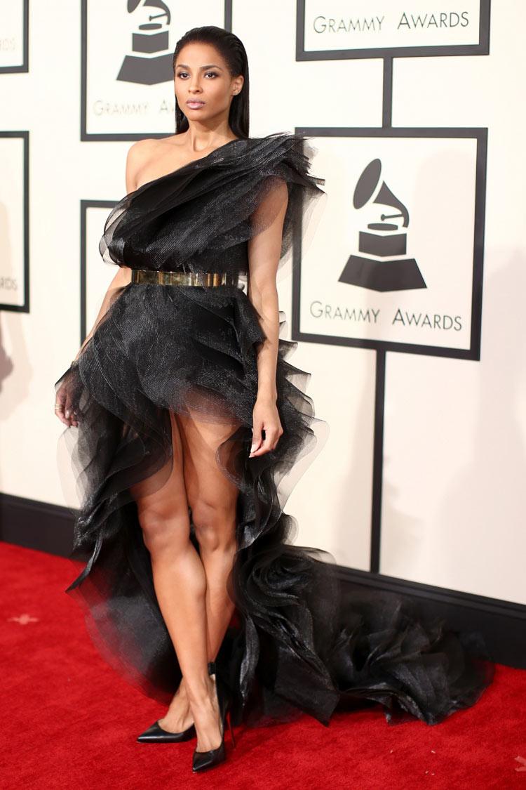 Ciara wearing Alexandre Vauthier at the 2015 Grammy Awards