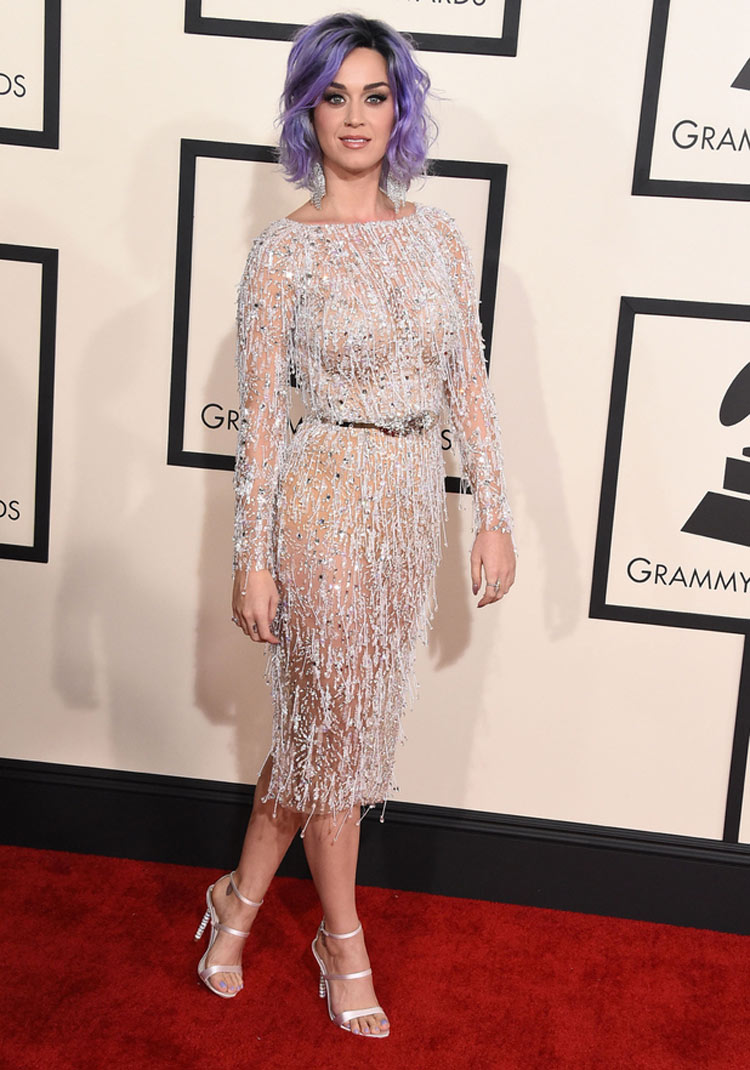 Katy Perry wearing Zuhair Murad at the 2015 Grammy Awards