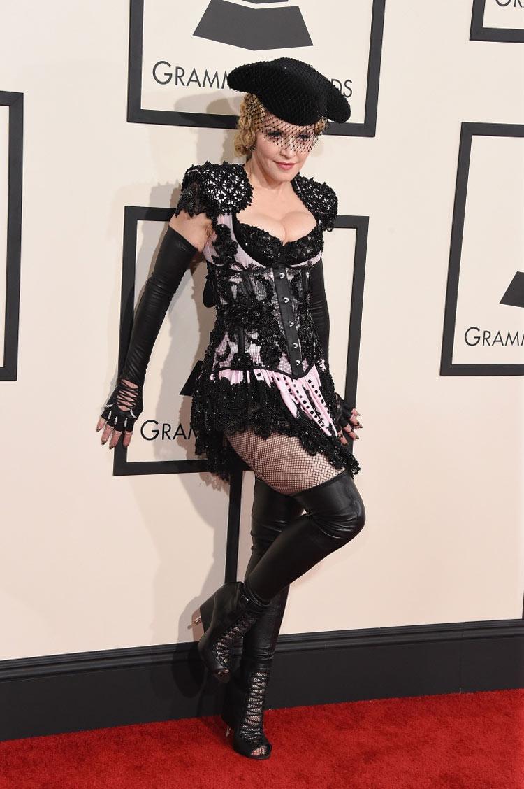 Madonna wearing Givenchy at the 2015 Grammy Awards