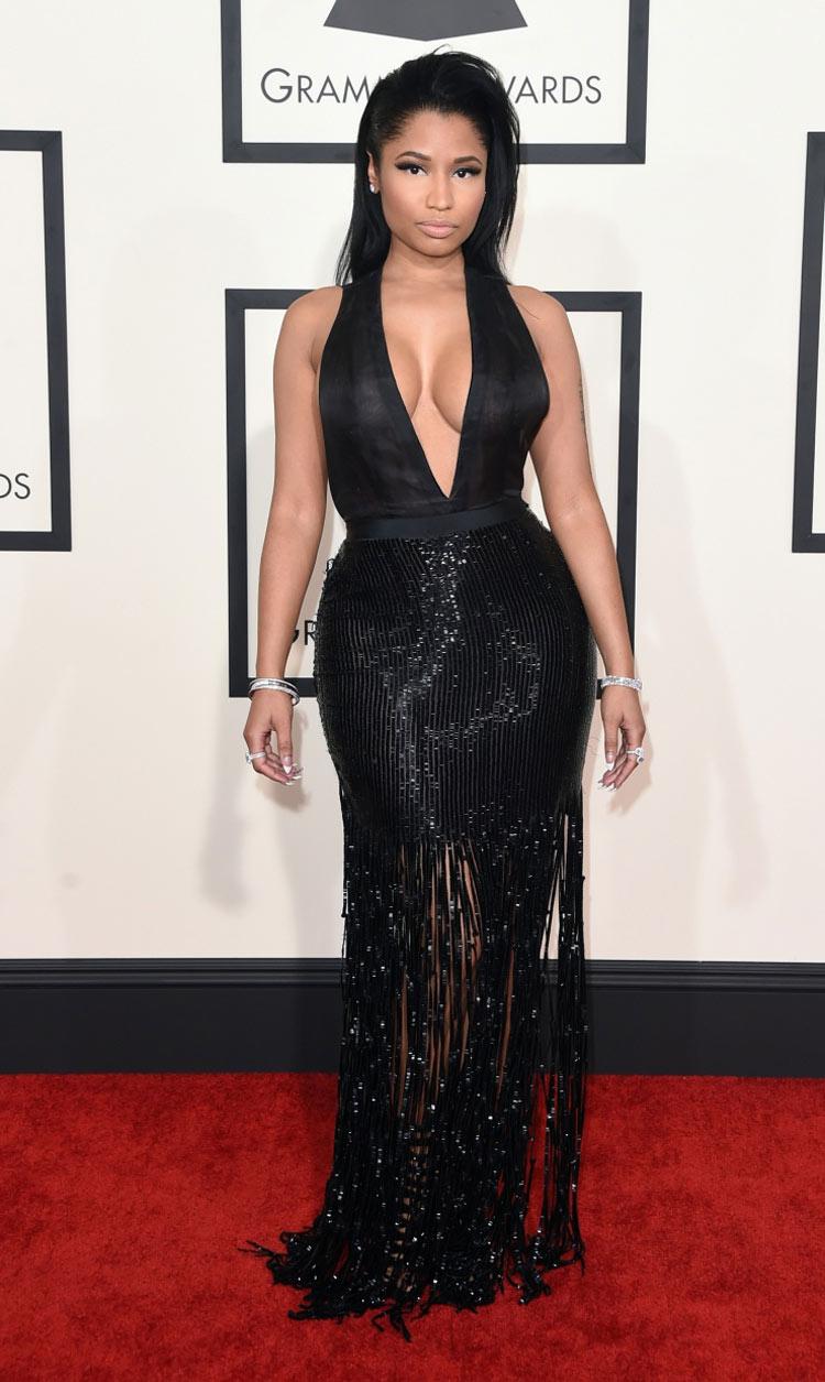 Nicki Minaj wearing Tom Ford at the 2015 Grammy Awards