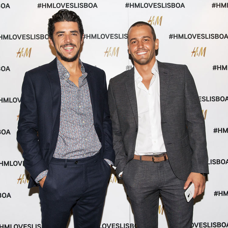 Pedro Teixeira and Tiago Froufe wearing H&M
