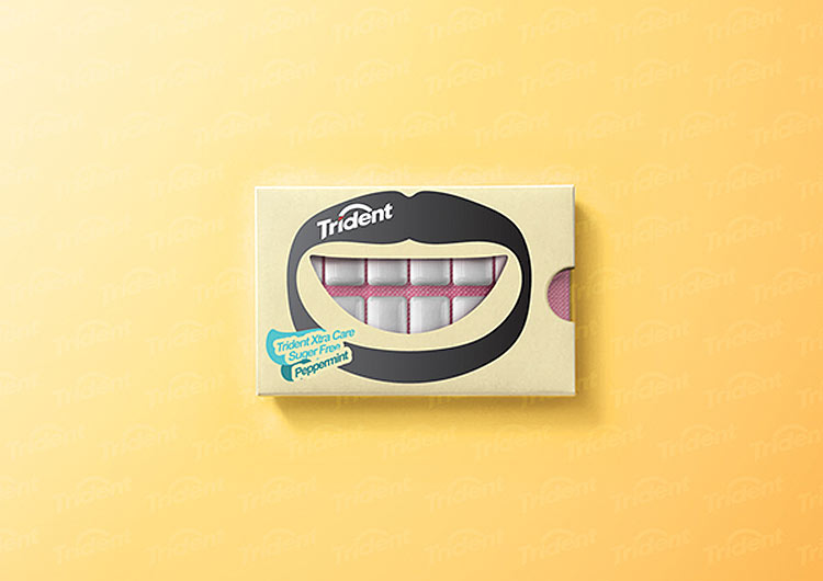 smiley chewing gum packaging by Hani Douaji
