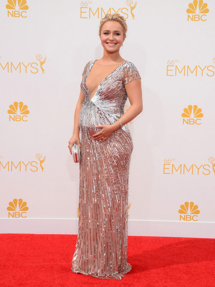 Hayden Panettiere in Lorena Sarbu at the 2014 Emmy Awards