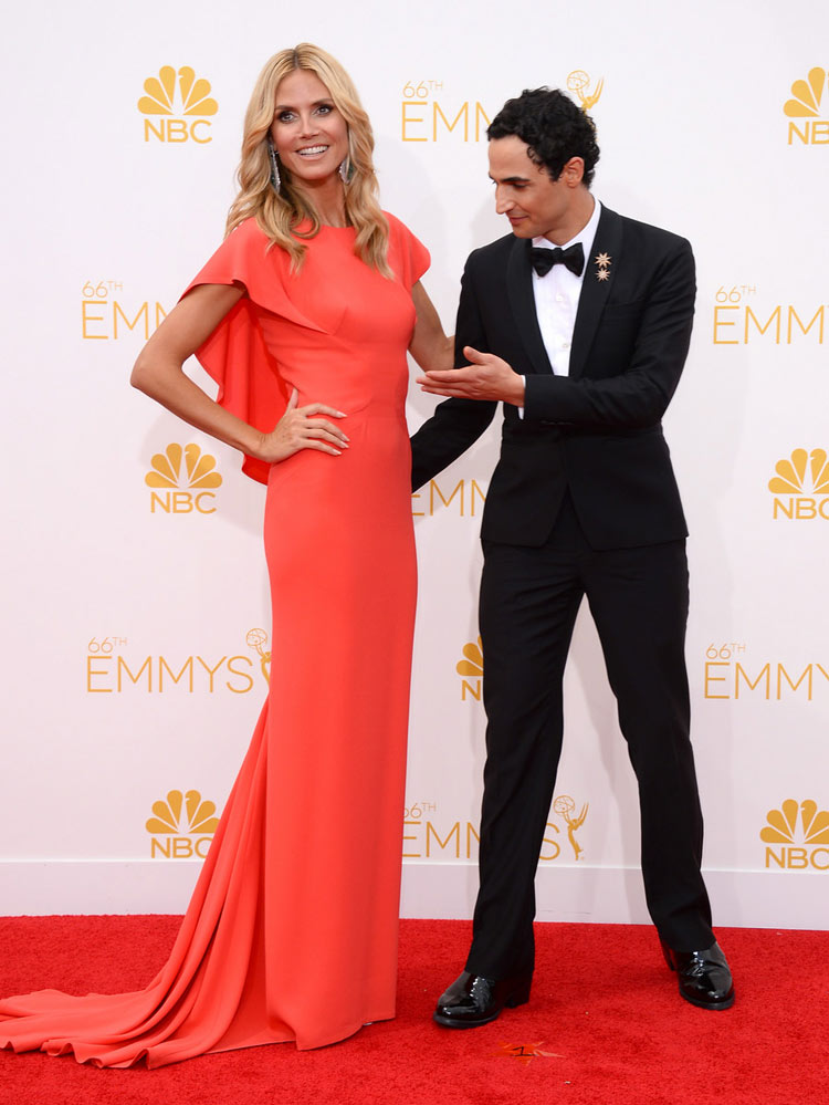 Heidi Klum in (and with) Zac Posen at the 2014 Emmy Awards