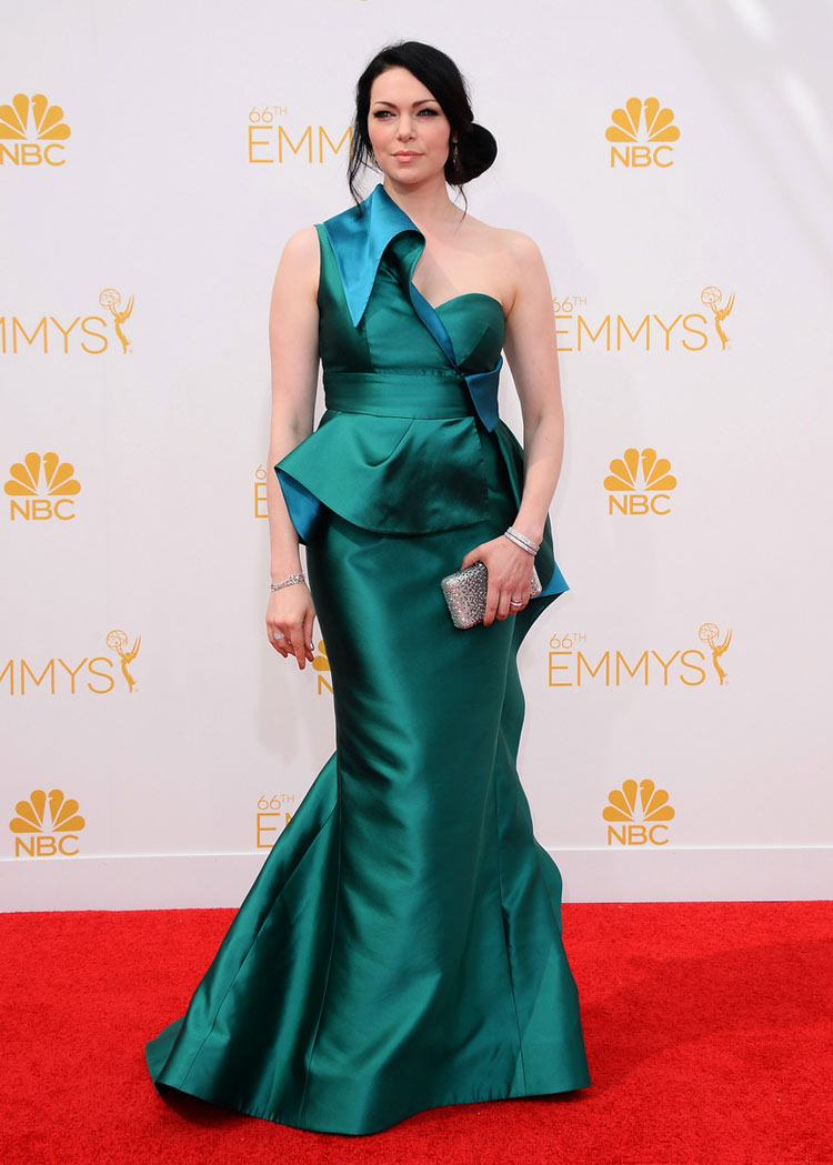 Laura Prepon in Gustavo Cadile at the 2014 Emmy Awards