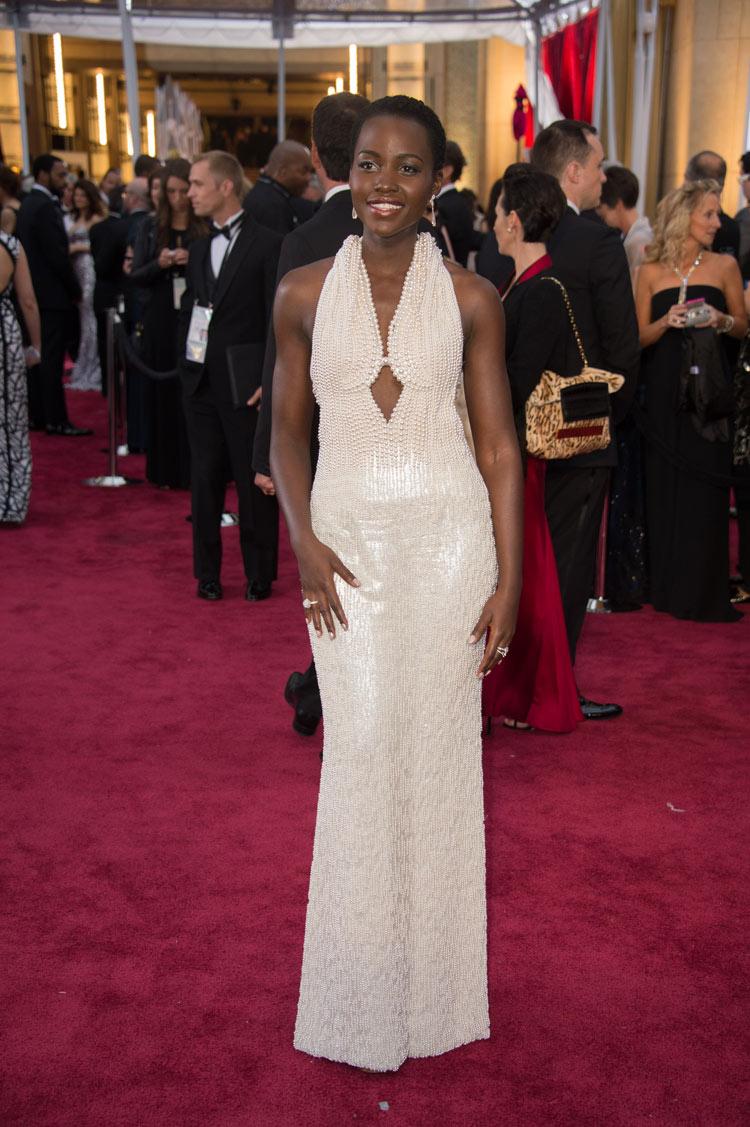 Lupita Nyong'o in Calvin Klein Collection at the Oscars 2015