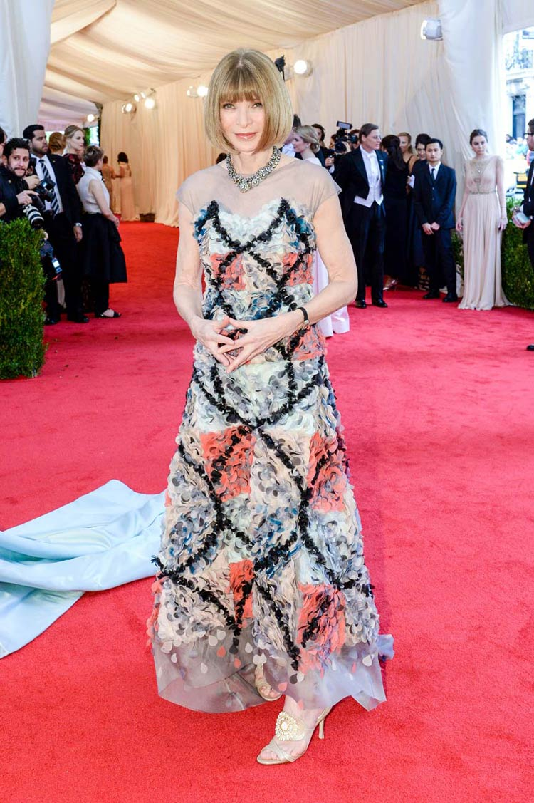 Co-Chair Anna Wintour at the MET Gala 2014