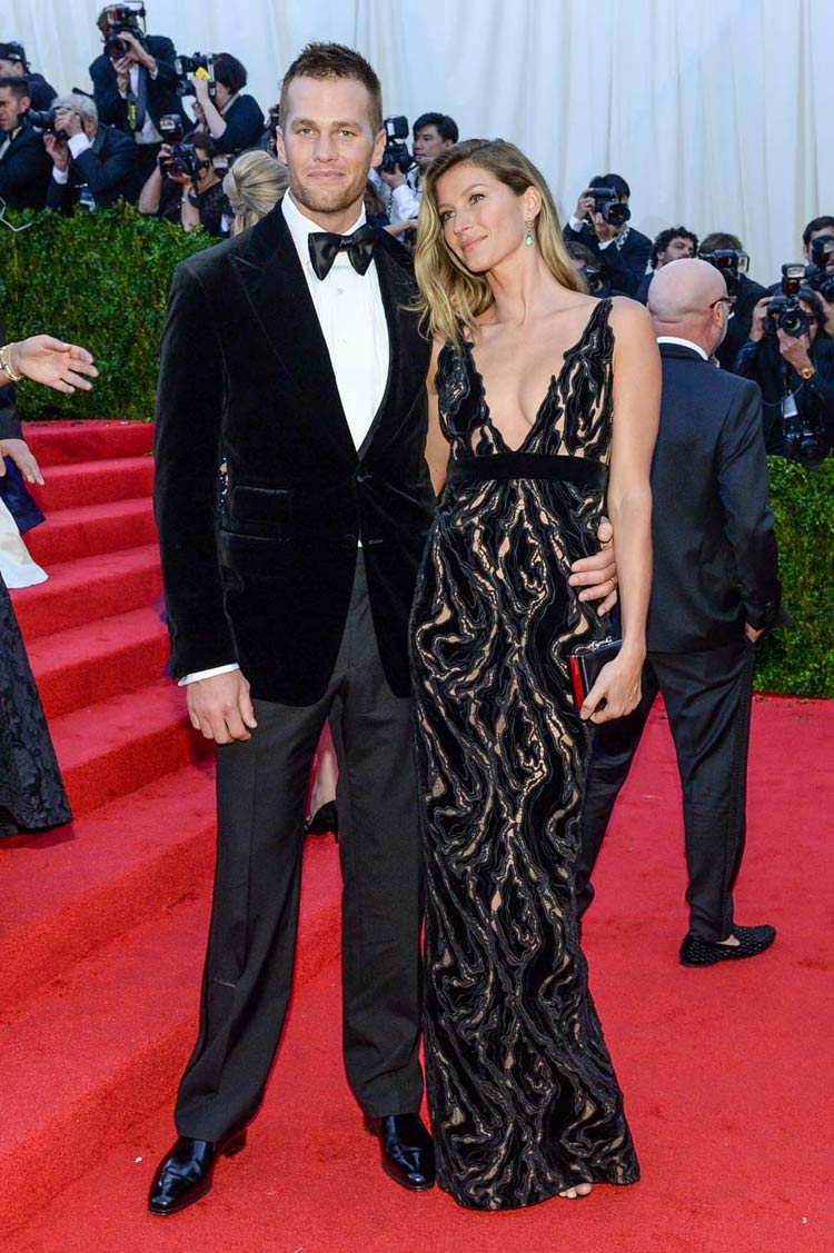 Tom Brady wearing Tom Ford and Giselle Bundchen at the MET Gala