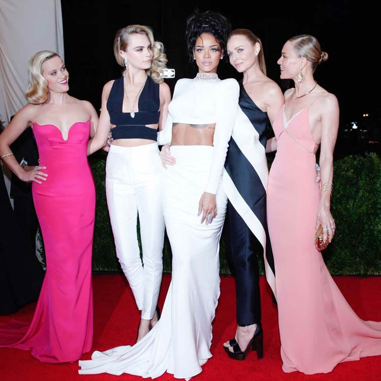 Reese Witherspoon, Cara Delevingne, Rihanna, Stella McCartney and Kate Bosworth at the MET Gala 2014