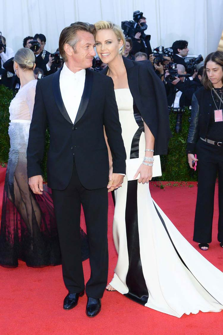 Sean Penn and Charlize Theron at the MET Gala 2014