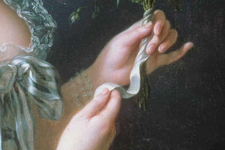 Marie Antoinette (detail) by Élisabeth Vigée-Lebrun, 1783