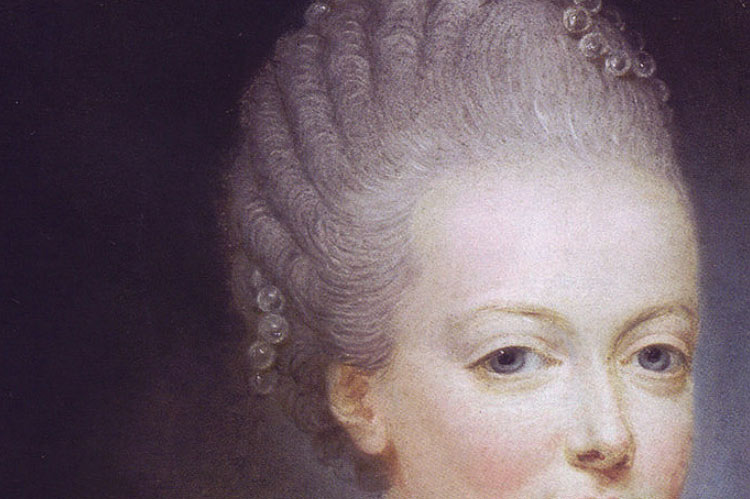 Marie Antoinette at the age of 13 (detail) by Joseph Ducreux, 1769