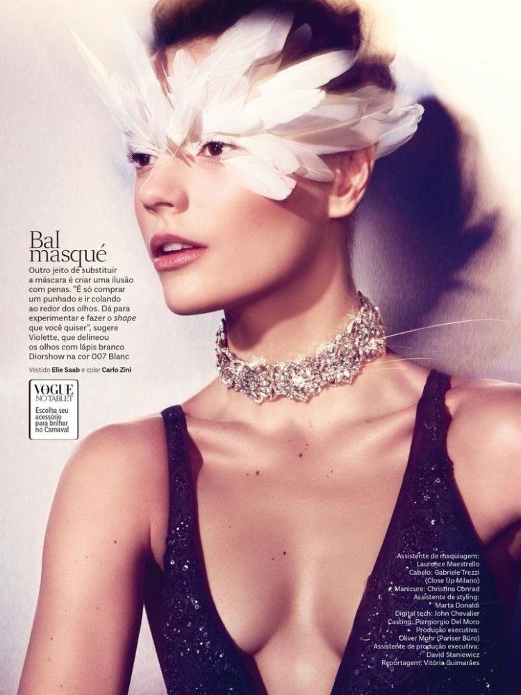 Model: Martha Streck / Photo: Ralf Pulmanns / Vogue Brazil / February 2014