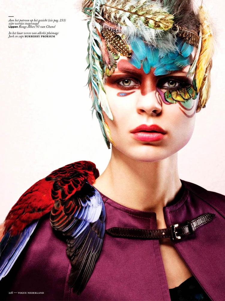 Model: Naomi Nijboer / Photo: Feriet Tunc / Vogue Netherlands / March 2013