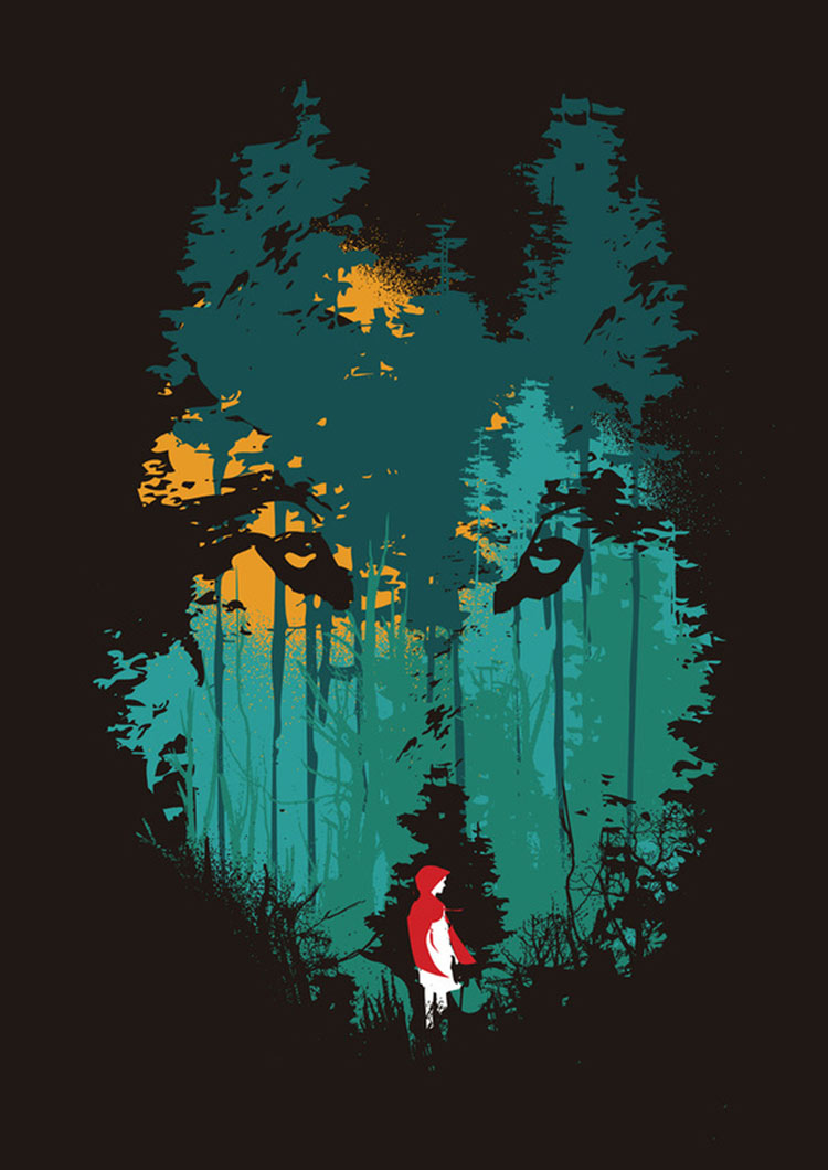Neonscope 15 illustrations for little red riding hood red riding hood by budi satria kwan buycottarizona