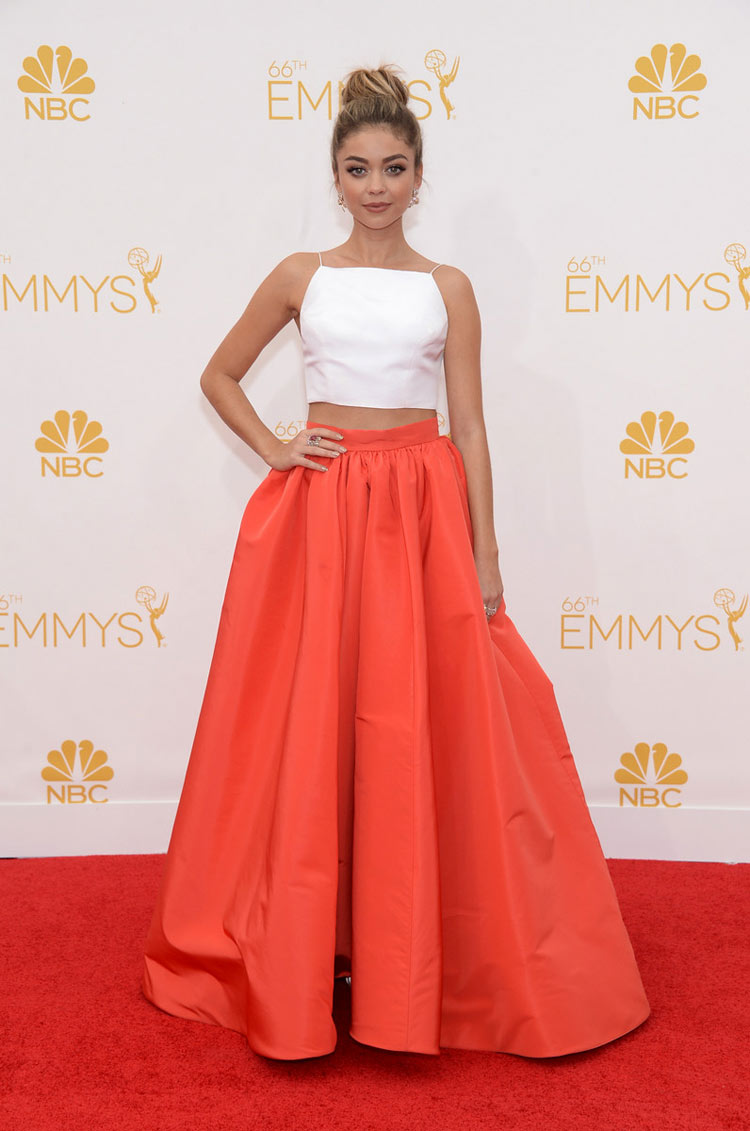 Sarah Hyland in Christian Siriano at the 2014 Emmy Awards