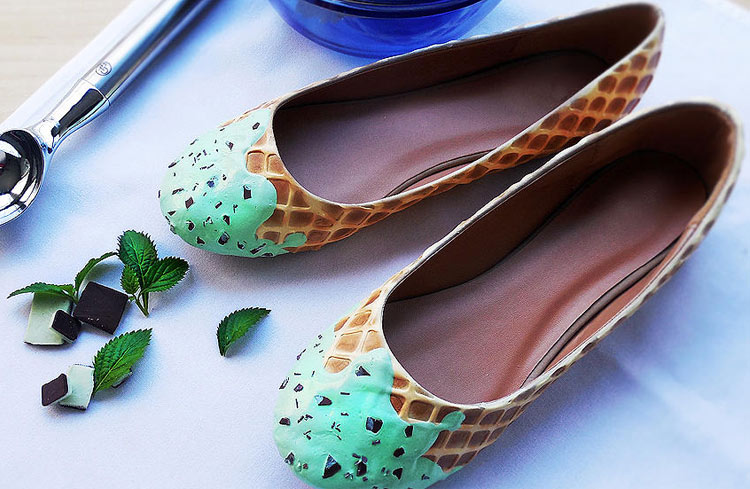 Sweet ice-cream shoes by the Shoe Bakery