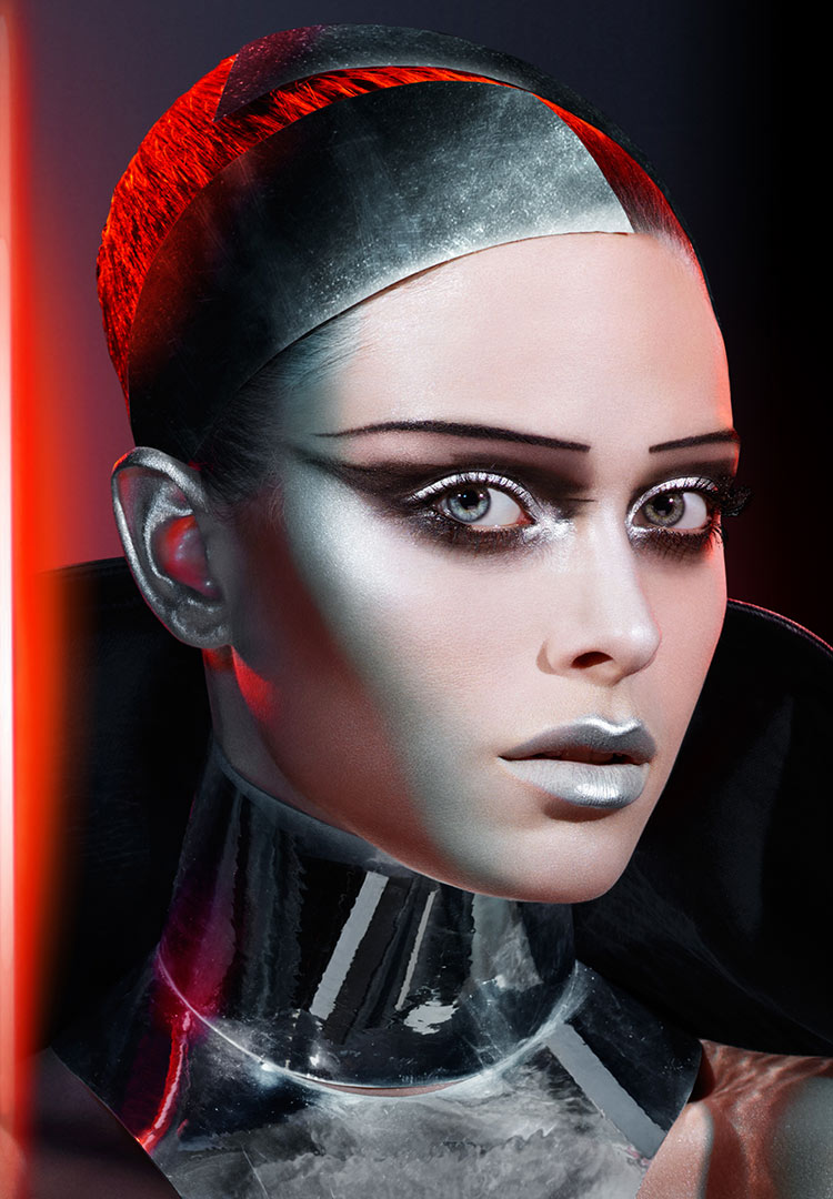 Covergirl Star Wars makeup look: Chrome Captain