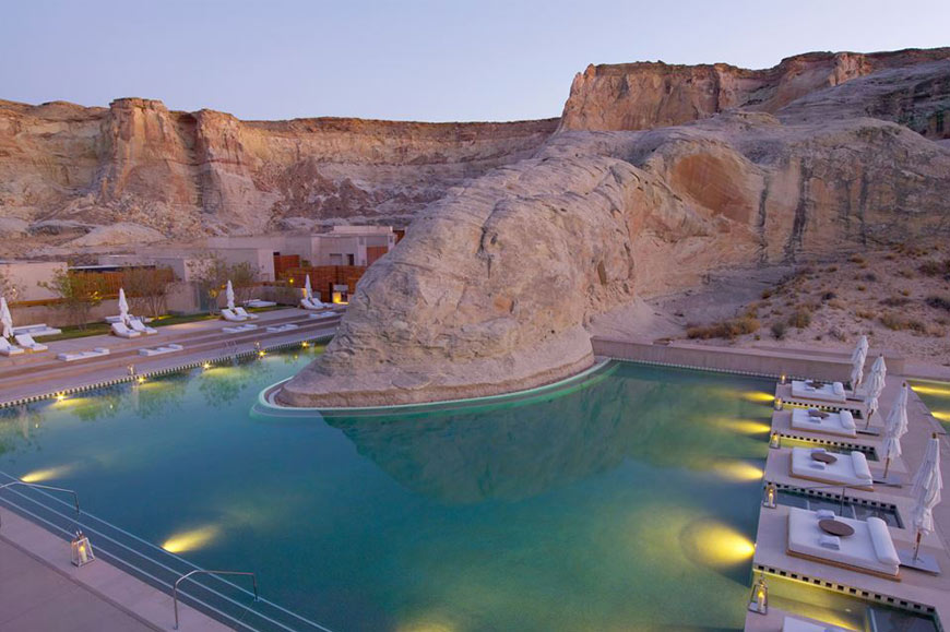 Canion pool, Amangiri Resort, Utah, Arizona