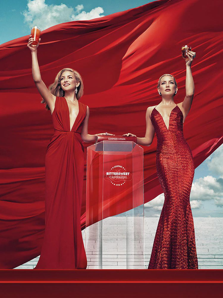 Kate Hudson wearing Thakoon and Michael Costello for the 2016 Campari Calendar
