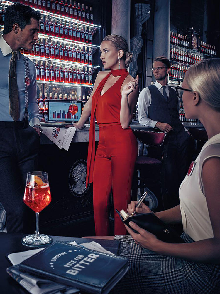 Kate Hudson wearing Milly and Katie Ermilio for the 2016 Campari Calendar