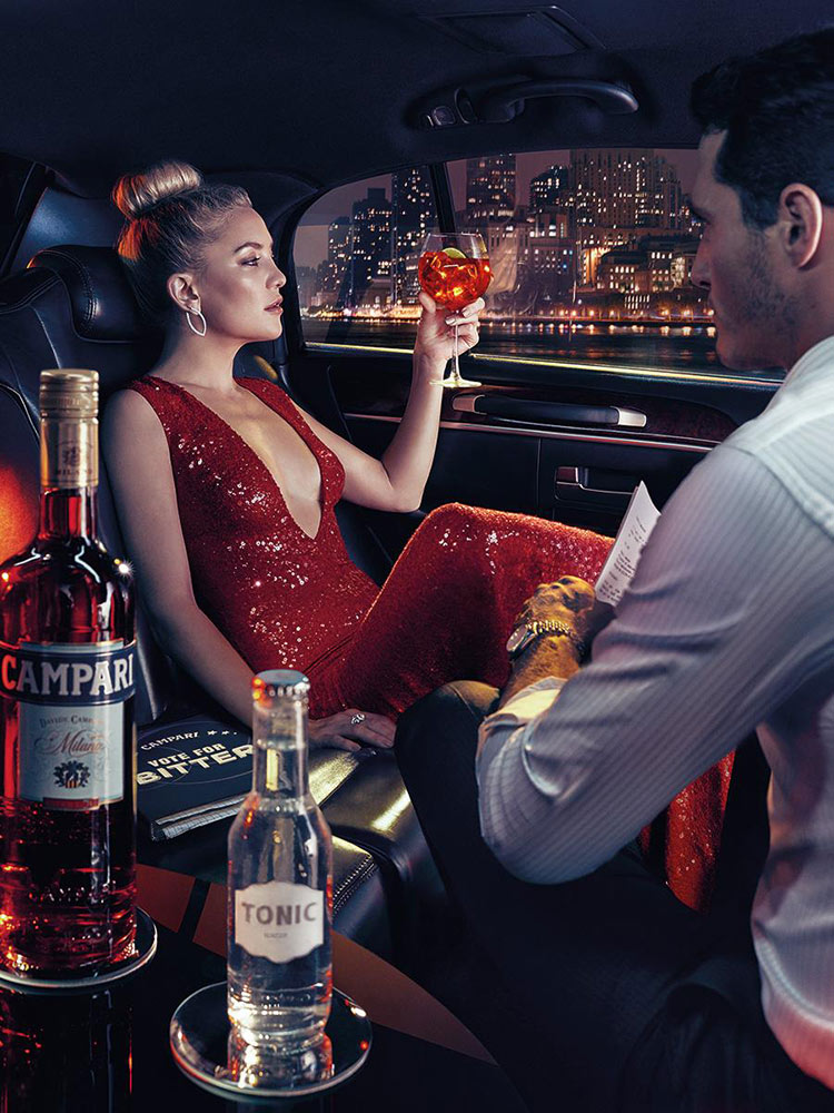 Kate Hudson wearing Naeem Khan for the 2016 Campari Calendar