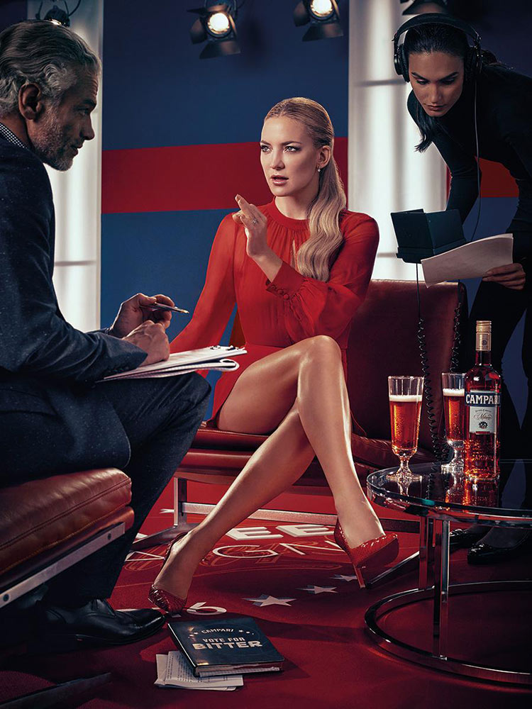 Kate Hudson wearing Cristiano Burani for the 2016 Campari Calendar