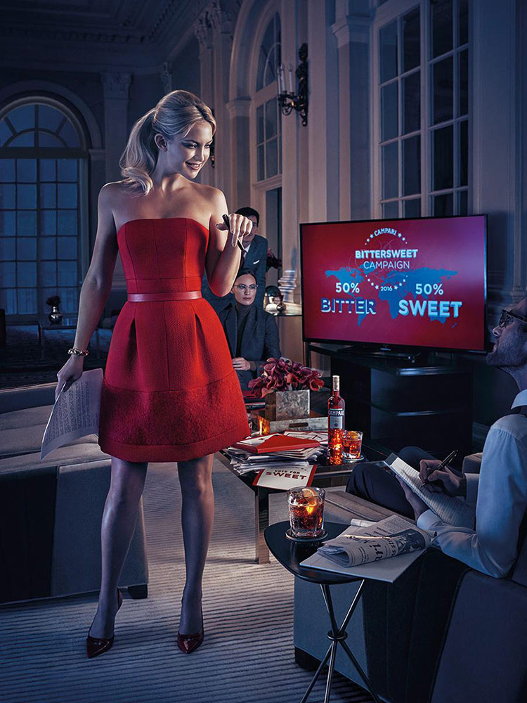Kate Hudson wearing Michael Kors for the 2016 Campari Calendar