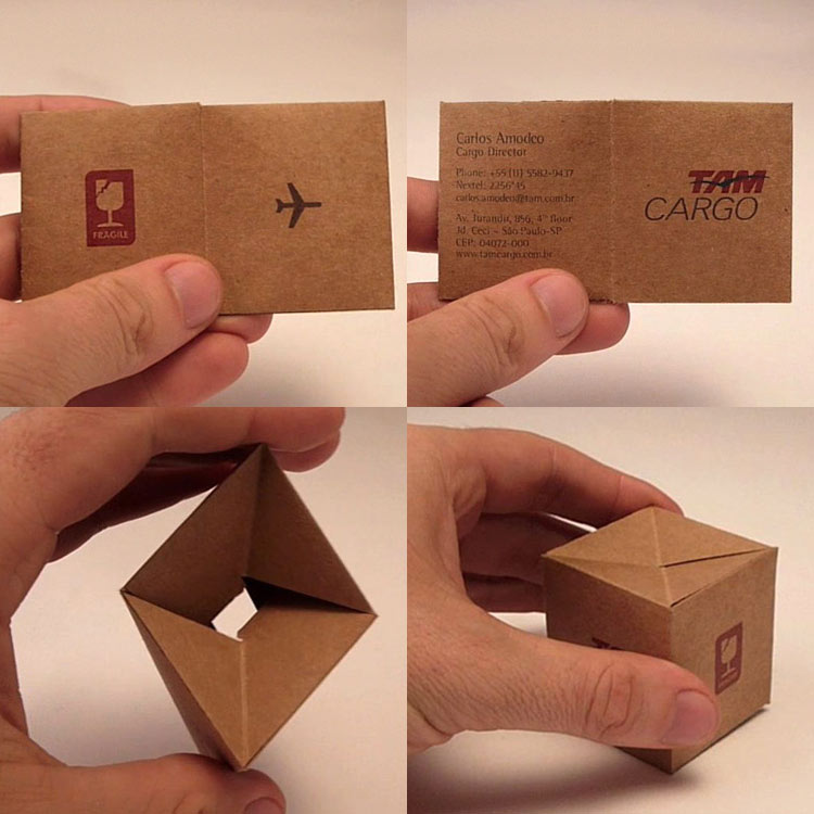 Neonscope 20 creative business card designs 3d business card box by yr brazil reheart Gallery