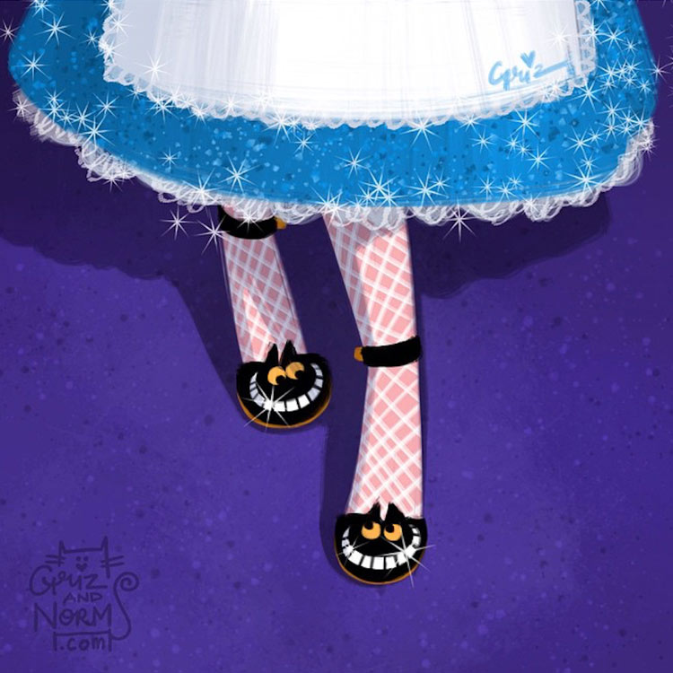 Alice in a Charlotte Olympia inspired design by Griz and Norm