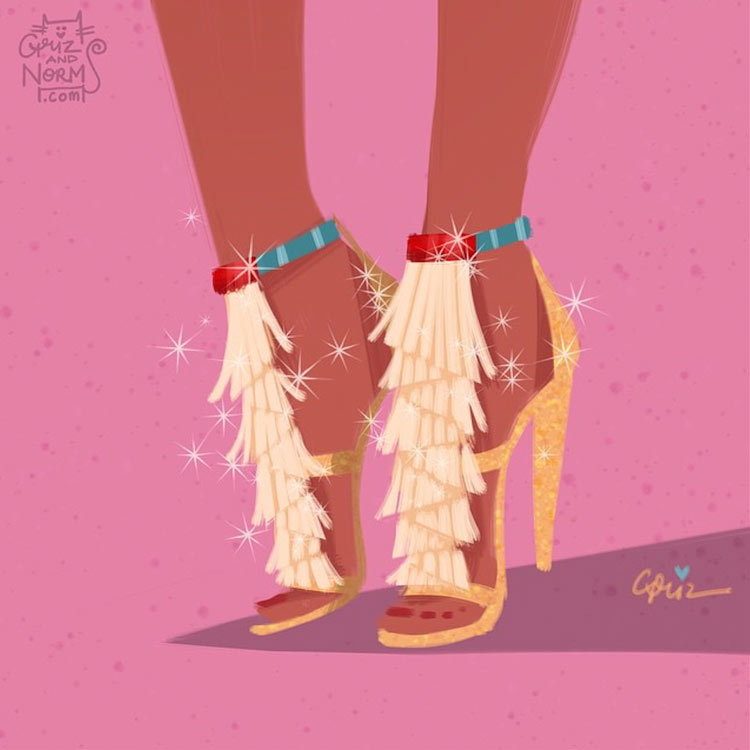 Pocahontas in a Chloé inspired design by Griz and Norm