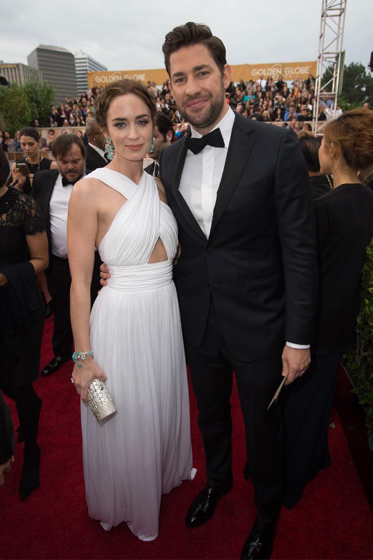 Emily Blunt and John Krasinski at the 2015 Golden Globe Awards
