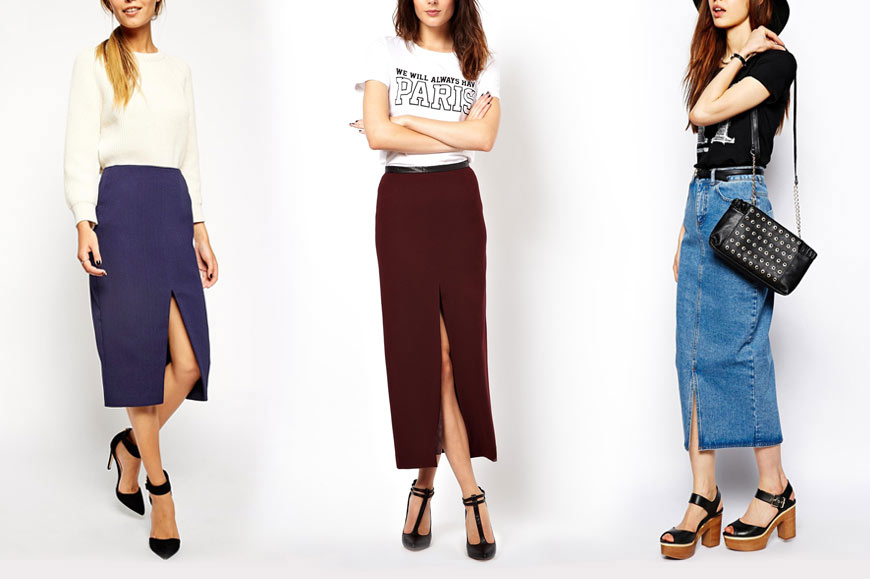 How to Wear Slit Skirts and Pants