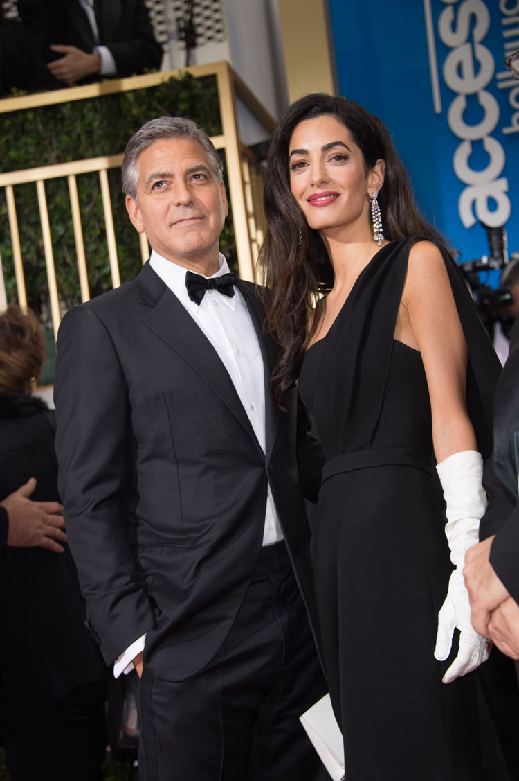 George Clooney and Amal Alamuddin at the 2015 Golden Globe Awards