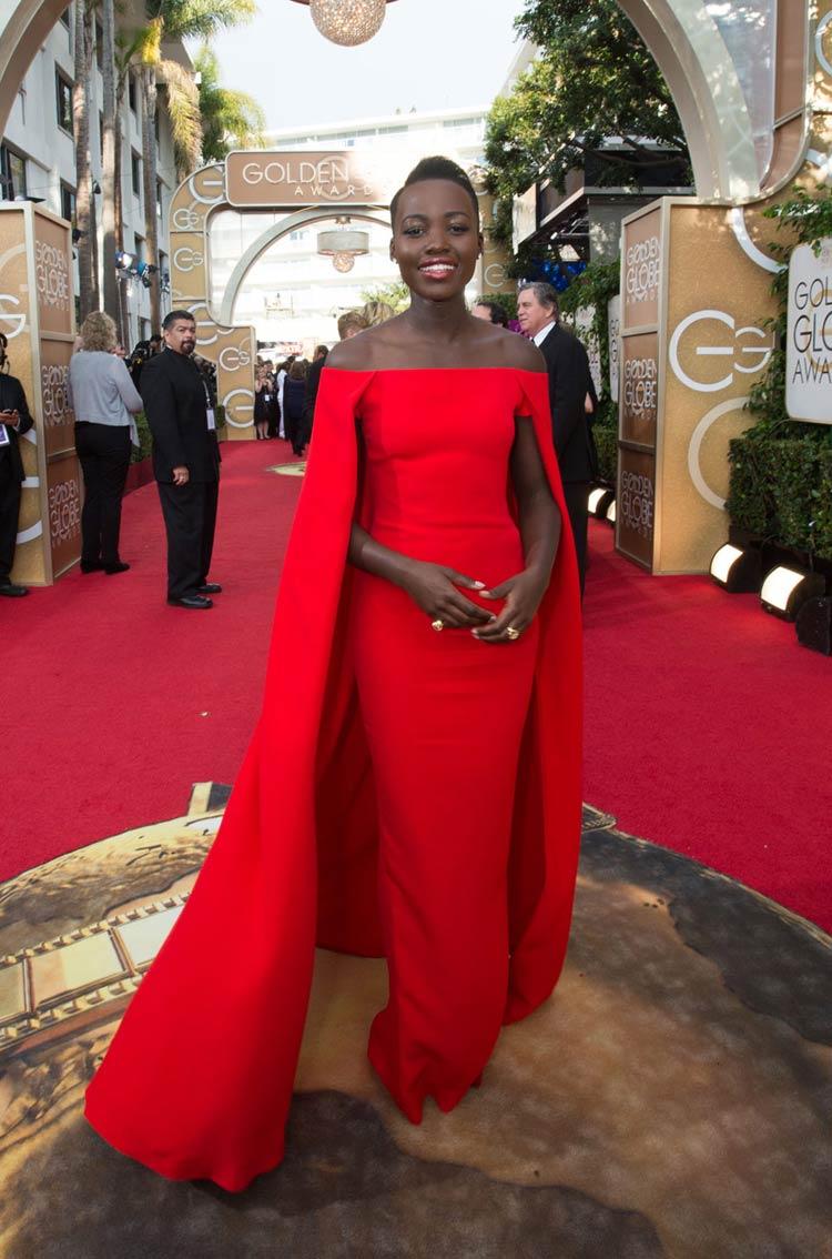 Lupita Nyong'o in Ralph Lauren at the Golden Globes