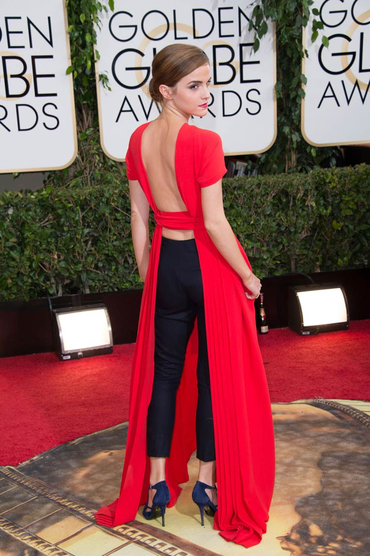 Emma Watson in Dior at the Golden Globes