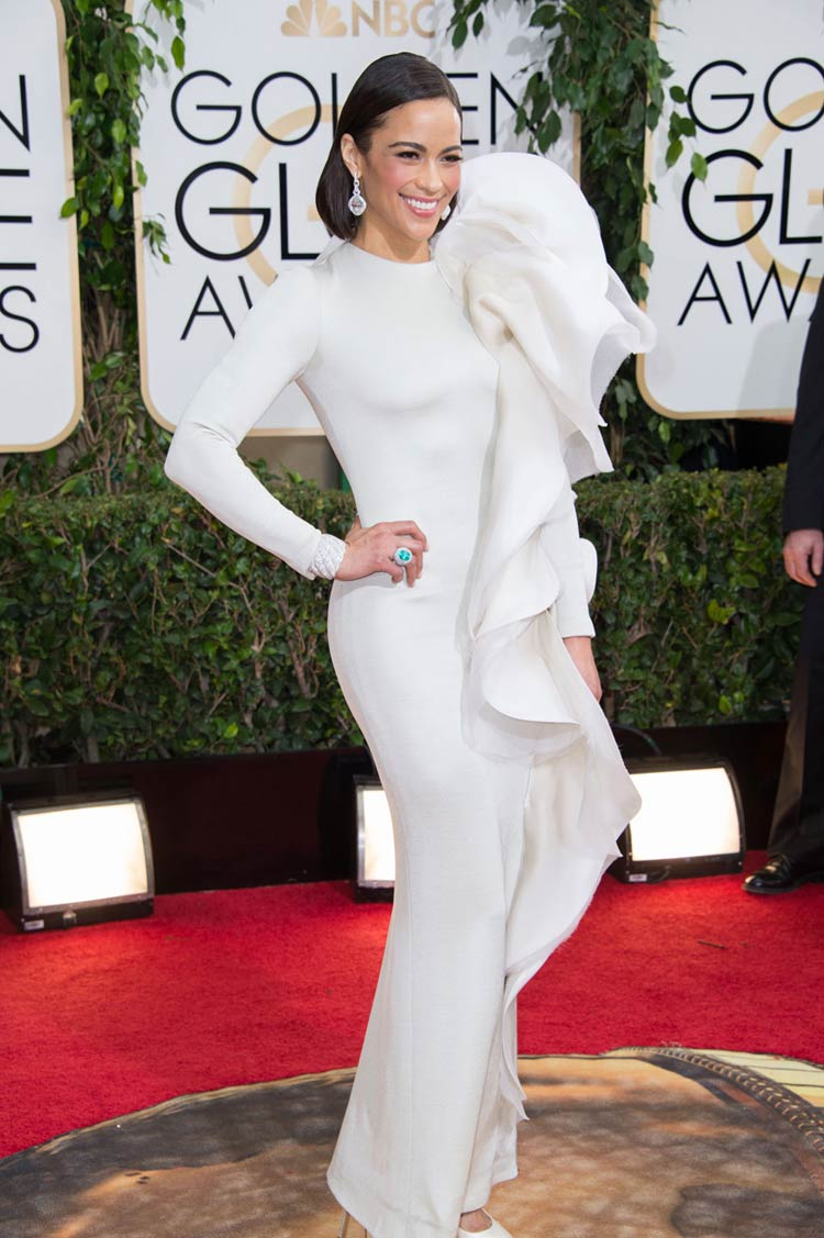 Paula Patton in Stephane Rolland at the Golden Globes