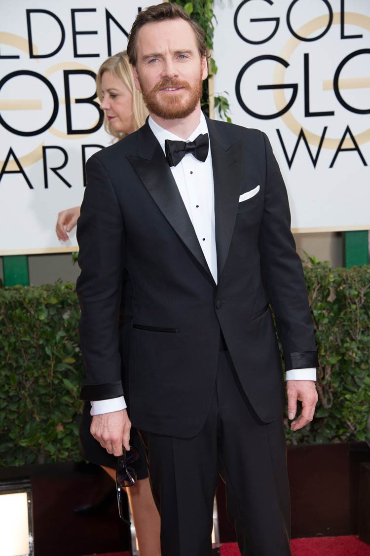 Michael Fassbender in Tom Ford at the Golden Globes