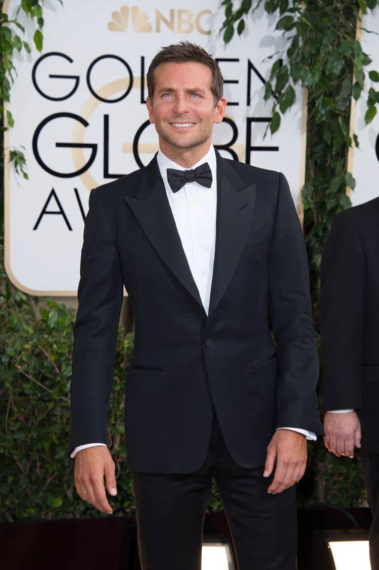 Bradley Cooper in Tom Ford at the Golden Globes