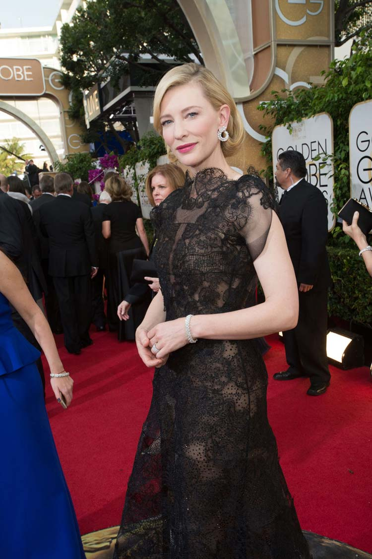 Cate Blanchett in Armani Privé at the Golden Globes