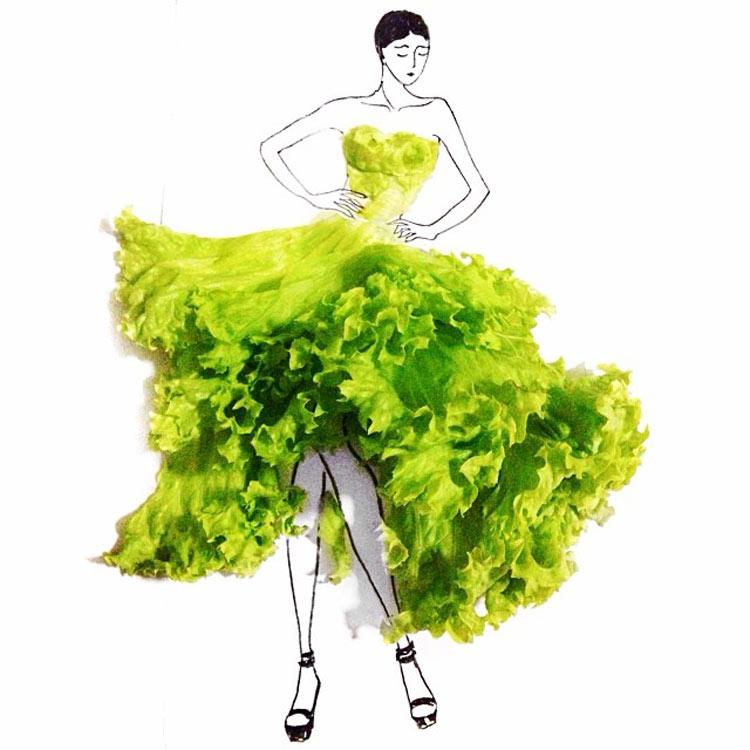 Lettuce dress by Grace Ciao