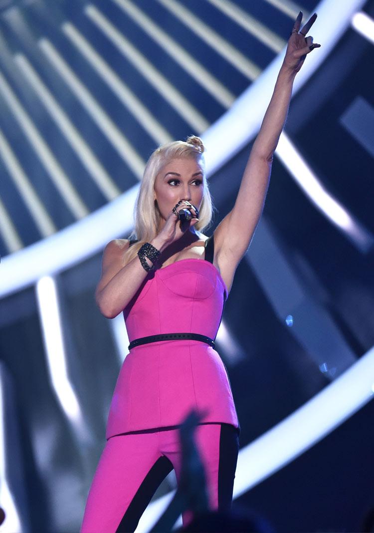 Gwen Stefani in L.A.M.B Couture at the 2014 MTV VMAS