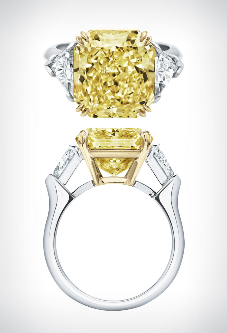 classic winston yellow diamond ring by harry winston - Harry Winston Wedding Rings