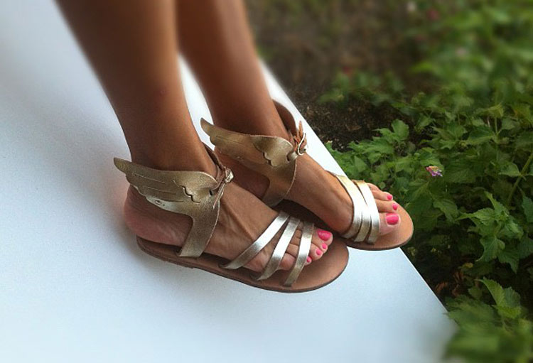 Ikaria gold sandals by Ancient Greek Sandals
