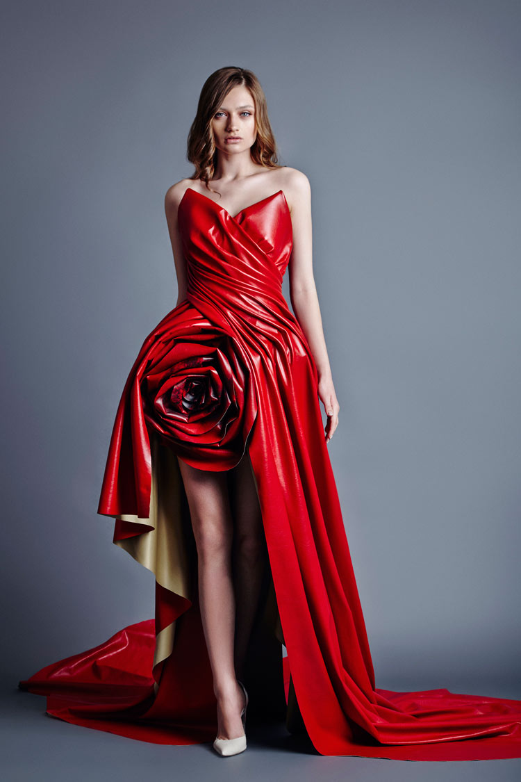 Neonscope the power of the red dress for Fashion couture clothing