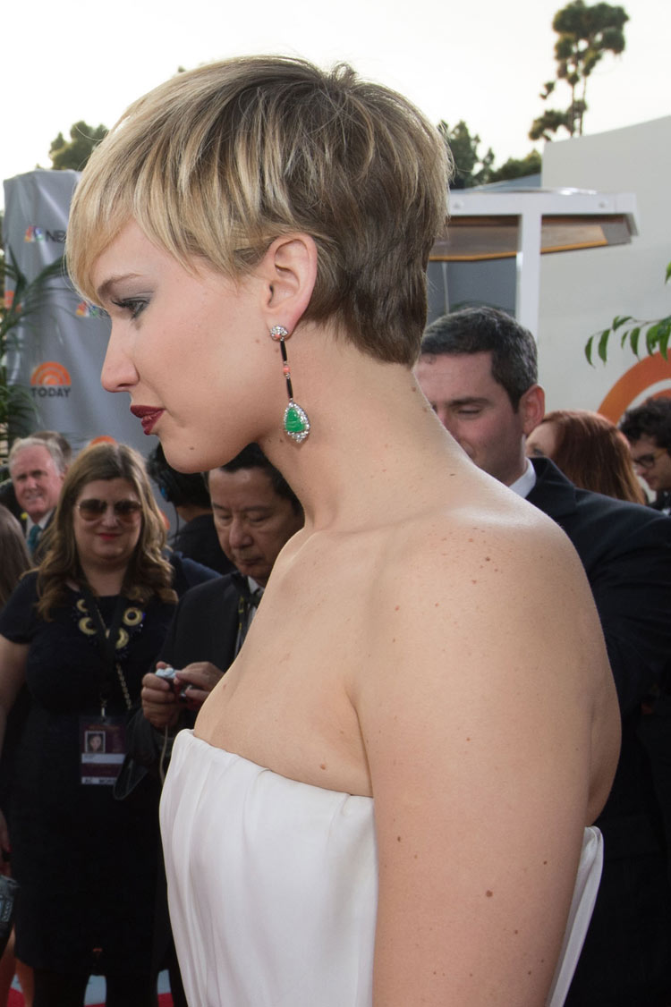 Jennifer Lawrence at the Golden Globes 2014