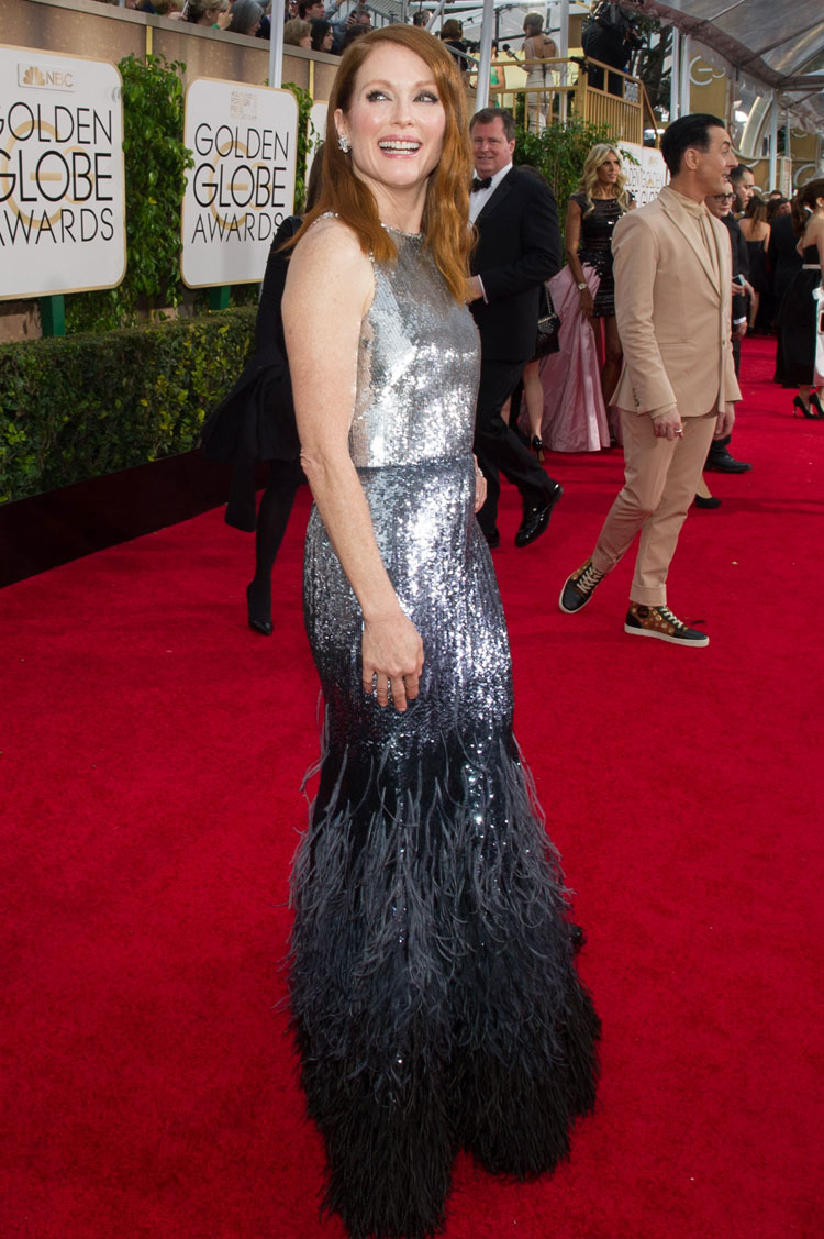 Julianne Moore wearing Givenchy at the 2015 Golden Globe Awards