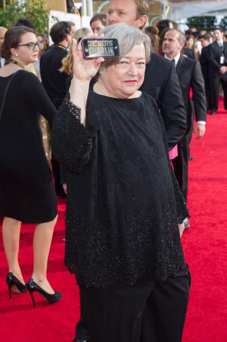 Kathy Bates at the 2015 Golden Globe Awards